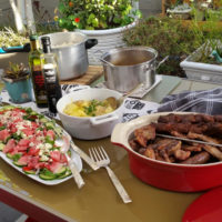 BBQ Meat And Salad